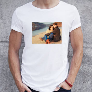Custom tshirt with picture, custom shirt photo, man customized tshirt with pic, personalized tshirt with photo, photo on shirt, tshirt photo