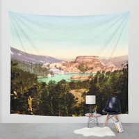 Wall Tapestry | Vintage Nature Tapestry| NatureTapestry| Mountains Lakes Tapestry| Lightweight Tapestry| Indoor Outdoor| Wall Hanging| S M L