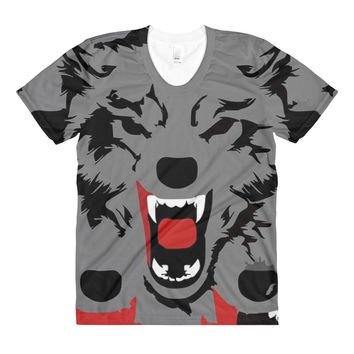 Women's Picasso Wolf Sublimation T Shirt