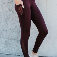 Libby High Rise Legging (WINE)