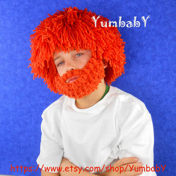 Leprechaun Hat Bearded Leprechaun Wig for Saint Patricks Day