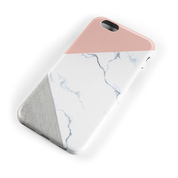 Pink Marble Stone Case Cover for iPhone 7 7Plus & iPhone se 5s 6 6 Plus +Gift Box