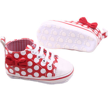 Slip-OnToddler Polka Dots Pu Leather Baby Shoes