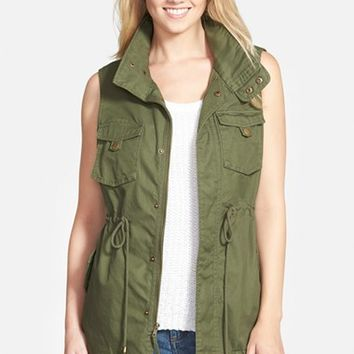 Women's Pleione Cotton Twill Military Vest,