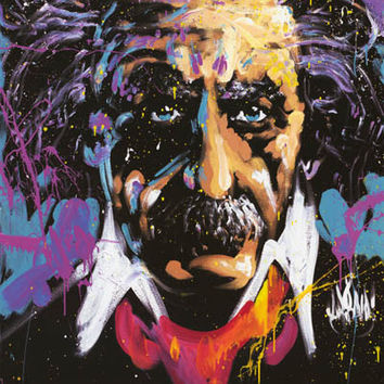 Albert Einstein David Garibaldi Art Poster 24x36