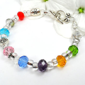 Gift for Cancer Patient, Inspirational Bracelet, Survivor, Cancer Awareness Month