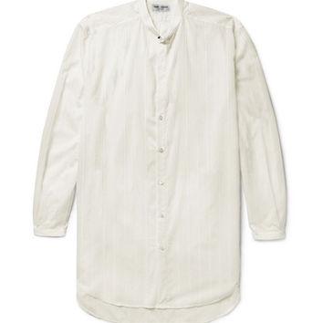 Saint Laurent - Grandad-Collar Fil Coupé Cotton Shirt