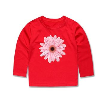 SMHONG New Arrival Full Sleeve Flower T Shirts Kids Cotton Tops Summer Clothing Boys Tees  go T-shirtKawaii Pokemon go  AT_89_9