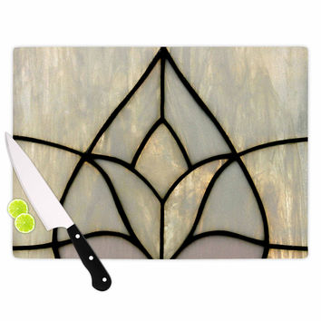 "Philip Brown ""Tulip Stained Glass"" Floral Digital Cutting Board"