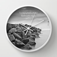 A Dreamer Wall Clock by Alice Gosling