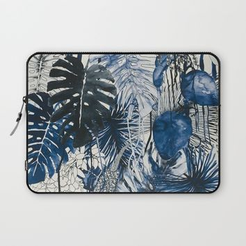 Tropical Plants Laptop Sleeve by Salome
