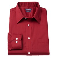 Croft & Barrow Slim-Fit Easy-Care Point-Collar Dress Shirt - Men, Size: