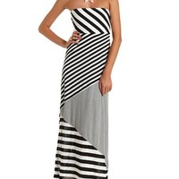 Bow-Back Striped Maxi Dress: Charlotte Russe