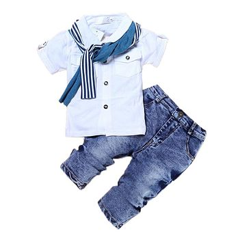 2Pcs Baby Boy Clothes Summer Children Clothing Sets Fashion Kids Clothes Cartoon Newborn Baby Clothes Roupas Bebe Infant Clothes