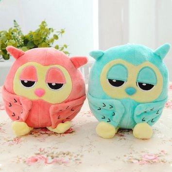 Night owl plush toys sleeping eye lovely owl toy plush soft for girls stuffed animal soft baby birthday gift toys