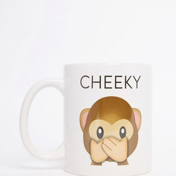50Fifty Cheeky Emoji Mug at asos.com