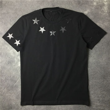 Star couple cotton short sleeved T-shirt [10159720647]