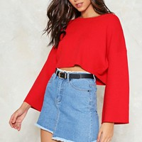 Bell It Like It is Cropped Sweater