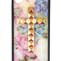 Vintage Floral Gold Cross iPhone 4/4s Case
