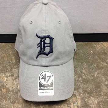 ESBON MLB Detroit Tigers Gray Adjustable Clean Up Hat
