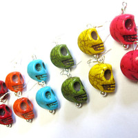 Day Of The Dead Earrings Sugar Skull Jewelry 7 Pairs For Every Day of the Week
