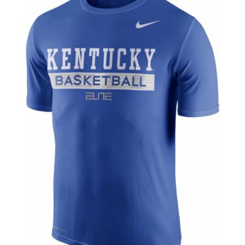 Kentucky Wildcats Nike Mens Elite Basketball DRI-FIT T-Shirt - Size Large - NWT