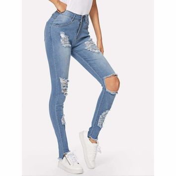 Bare Culture Curvy Ripped  Jeans
