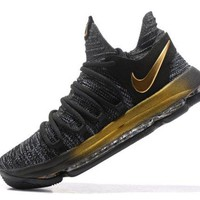 High-end Product Nike Zoom KD 10 EP Oreo Gold  Kevin Durant Men's Basketball Shoes Sneakers