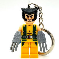 1 Piece Super Hero Avenger Wolverine Key Chains and Key Ring Kid Baby Toy Mini Figure Building Blocks Sets Model Toys Minifigures No Orignial Box,new in Sealed Bag #11