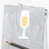 'Glass of champagne stickers' Sticker by Mhea