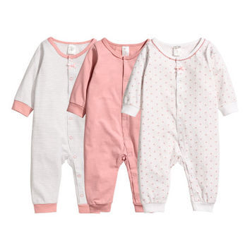 3-pack One-piece Pajamas - from H&M
