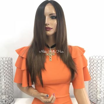Balayage ombre' lace front wig - Picture