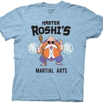 Dragon Ball Z Master Roshi's DoJo Anime Cotton Blend Adult T Shirt