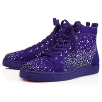 Christian Louboutin Cl Galaxtidude Flat Encre Suede 17s Sneakers - Best Deal Online