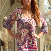 Paisley Pop Dress