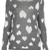 **HEART KNIT TOP BY WAL G