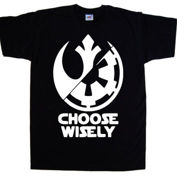 Star Wars Emblem Choose WiselyPre-Shrunk 100% Cotton T-shirt