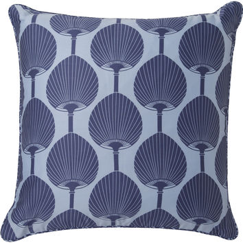 Kabuki Pillow in Cobalt & Sky Blue design by Florence Broadhurst