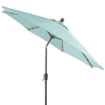 9-Foot Round Aluminum Patio Umbrella in Mist
