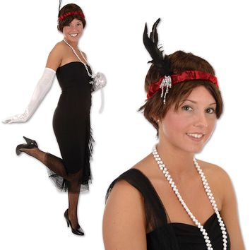 Flapper Headband - Red Case Pack 12