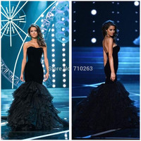 Sexy New 2015 Evening Dress Sweetheart Sleeveless Mermaid Pageant Dress Gown Hot Sale