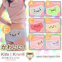 New Kawaii Emoji Sexy Emoticon Hot Ladies Underwear Bottoms High Quality Soft Cotton 7 Designs KK588