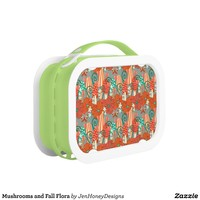 Mushrooms and Fall Flora Lunch Boxes