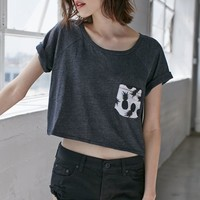 Me To We Cropped Raglan T-Shirt - Womens Tee