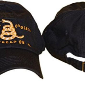 Black Gadsden Culpeper Don't Tread on Me Embroidered Baseball Cap Hat