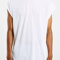Men's Topman Longline Cap Sleeve T-Shirt,
