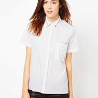 ASOS Shirt with Zip Insert Collar and Pocket