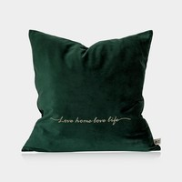 "Jade Velvet Pillow Cover 18"" x 18"""
