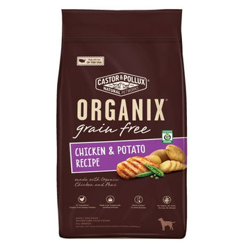 Castor and Pollux Organix Grain-Free Chicken and Potato Recipe Adult Dry Dog Food -5x4 LB-