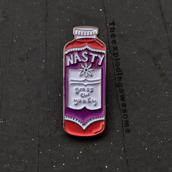 Nasty Red Kombucha Enamel Pin